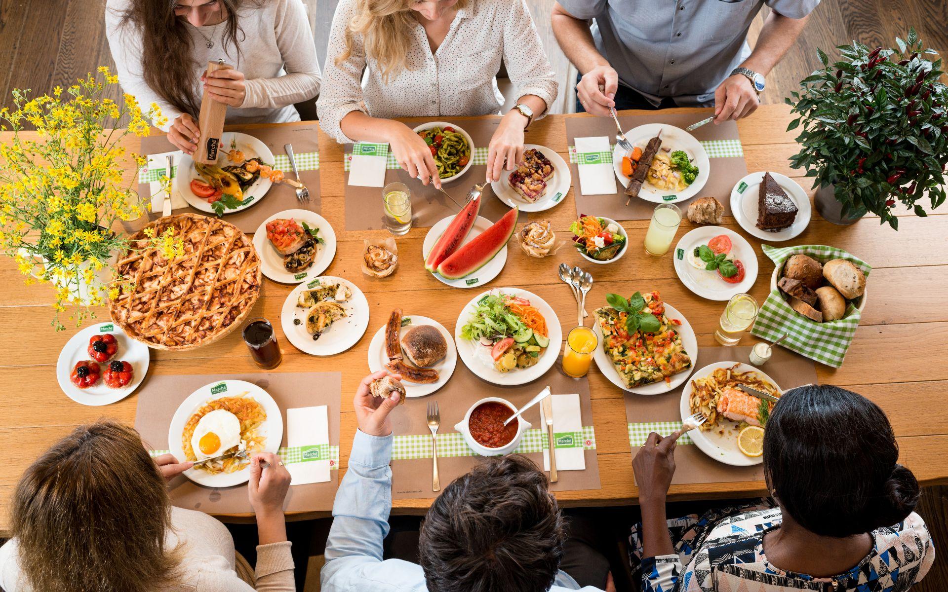 Des offres spéciales pour les groupes au Marché Restaurant