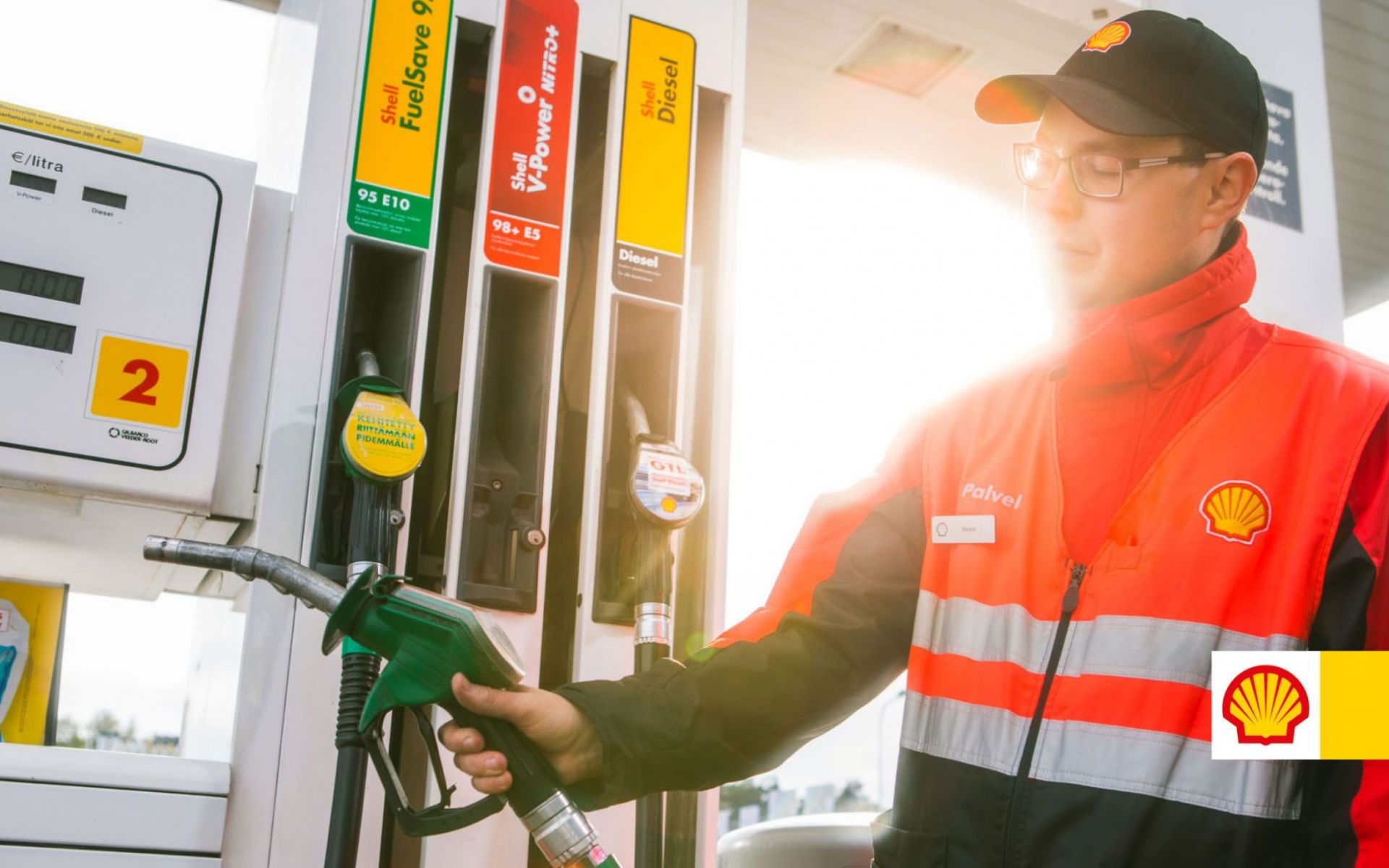Service à la pompe Shell