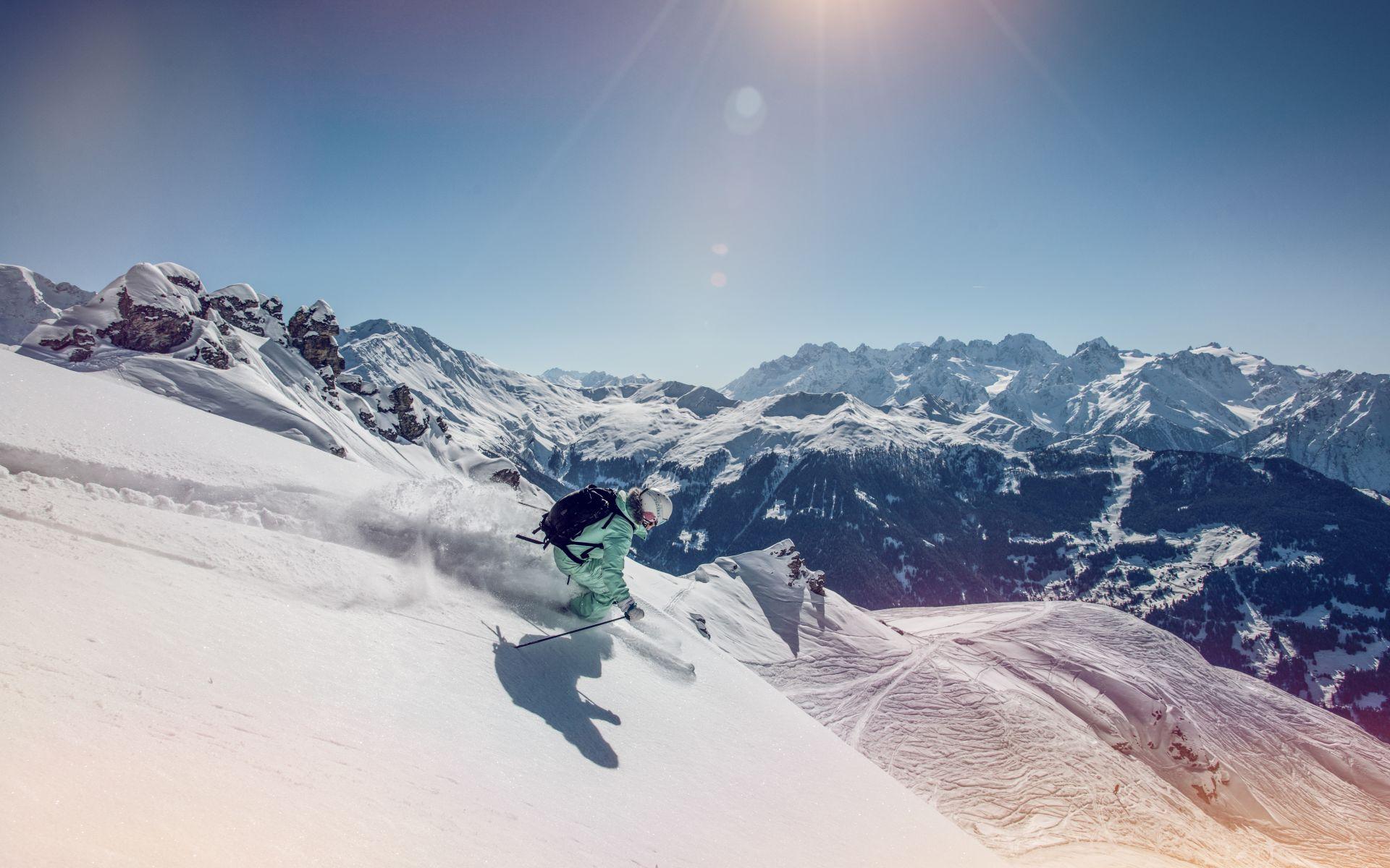 Hors piste proche du domaine skiable de Verbier